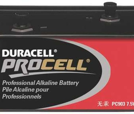 duracell procell 7.5V lantern alkaline battery with threaded posts