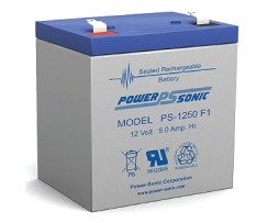 Power-Sonic 12v 5Ah Rechargeable SLA Battery PS-1250