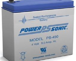 PS-490 Power-Sonic 4v 9Ah Rechargeable SLA Battery