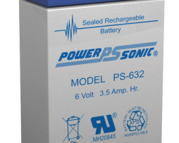 Power-Sonic 6v 3.2Ah Rechargeable SLA Battery