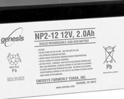 EnerSys 12v 2Ah Rechargeable SLA Battery (np2-12)