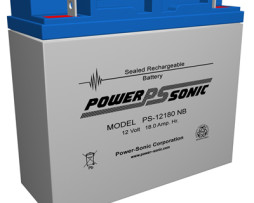 Power-Sonic 12v 18Ah Rechargeable SLA Battery, PS-12180