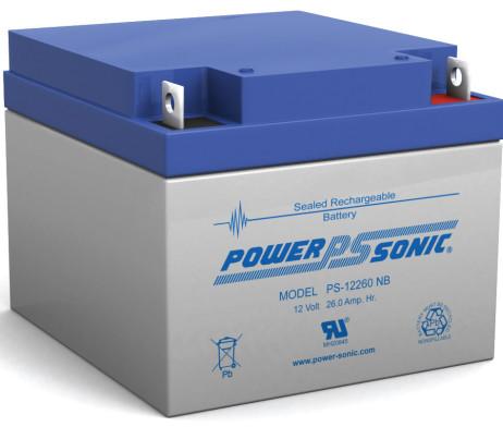 Power-Sonic 12v 26Ah Rechargeable SLA Battery PS-12260