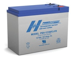 Power-Sonic 12v 10.5Ah Rechargeable SLA Battery, PSH-12100 FR