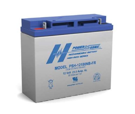 Power-Sonic 12v 21Ah Rechargeable SLA Battery, PSH-12180 FR