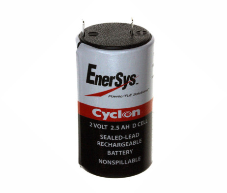 hawker enersys cyclon 0810-0004 d cell 2V 2.5ah battery