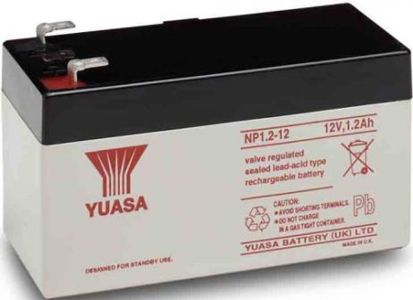 EnerSys 12v 1.2Ah Rechargeable SLA Battery np1.2-12