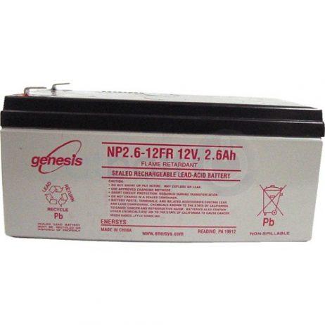 EnerSys 12v 2.6Ah Rechargeable SLA Battery NP2.6-12