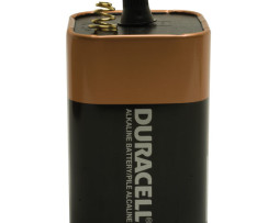 duracell procell 6 volt lantern alkaline battery with spring posts