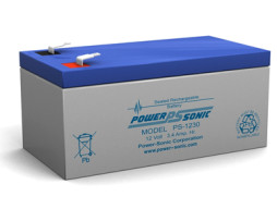 Power-Sonic 12v 3.4Ah Rechargeable SLA Battery PS-1230
