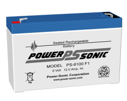 Power-Sonic 6v 12Ah Rechargeable SLA Battery
