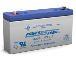 Power-Sonic 6v 1.3Ah Rechargeable SLA Battery