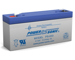 Power-Sonic 6v 3.4Ah Rechargeable SLA Battery