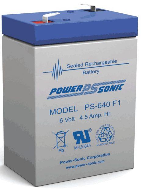 Power-Sonic 6v 4.5Ah Rechargeable SLA Battery