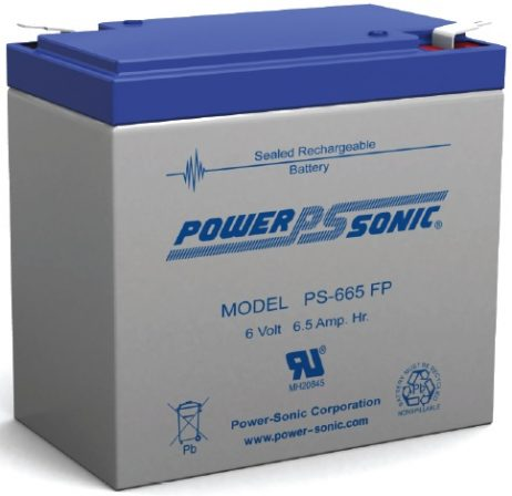 Power-Sonic 6v 6.5Ah Rechargeable SLA Battery
