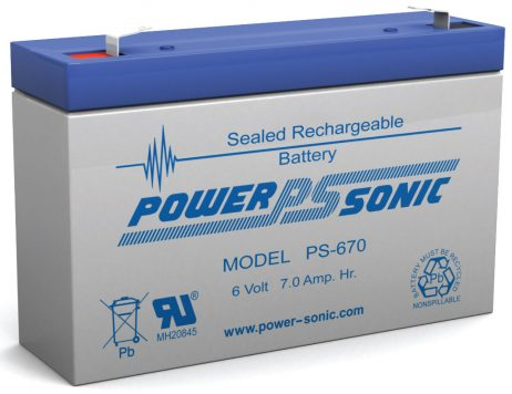 Power-Sonic 6v 7Ah Rechargeable SLA Battery