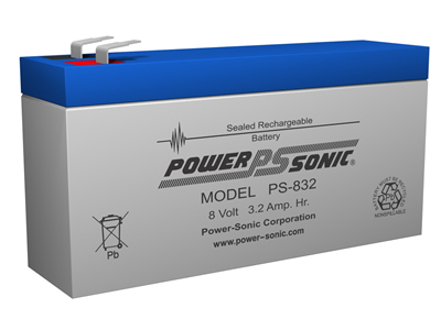 Power-Sonic 8v 3.2Ah Rechargeable SLA Battery PS-832