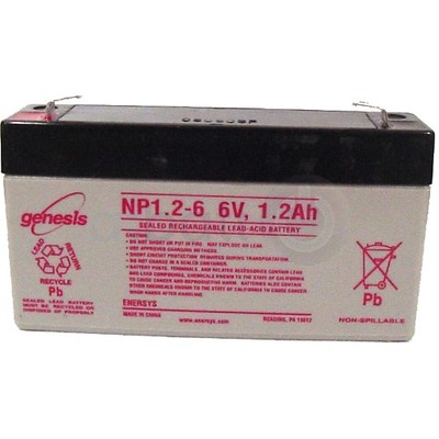 EnerSys 6v 1.2Ah Rechargeable SLA Battery (NP1.2-6)