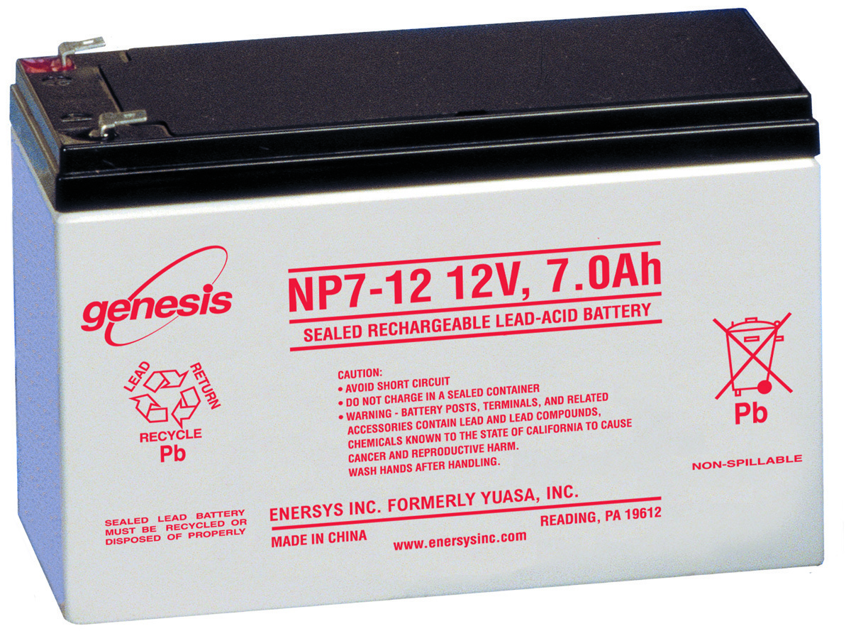 Enersys Np7-12 Rechargeable Sla Battery