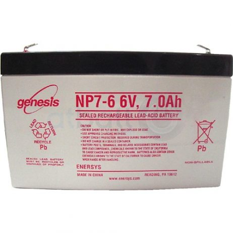EnerSys 6v 7Ah Rechargeable SLA Battery NP7-6