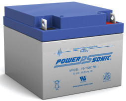 Power-Sonic 12v 26Ah Rechargeable SLA Battery PS-12260