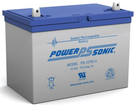 Power-Sonic 12v 75Ah Rechargeable SLA Battery PS-12750