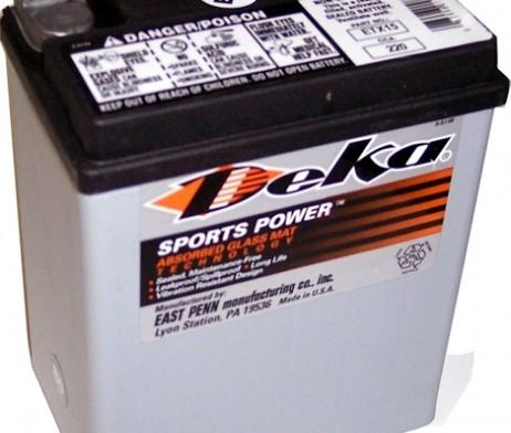 Deka ETX15 AGM Motorcycle Battery
